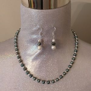 Emily Ray Jewelry - Emily Ray Grey White Real Pearl Necklace Sterling